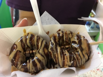 Two donuts, Donuts on a Stick, Duck, NC | In Search of a Scoop