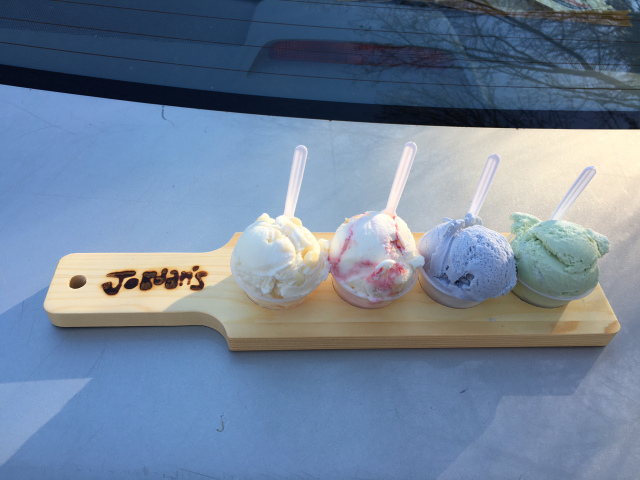 Lavender and three more at Jordan's Creamery, Belmont, NH | In Search of a Scoop